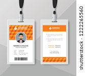 corporate identity card design... | Shutterstock .eps vector #1222265560
