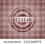 obedience red emblem with... | Shutterstock .eps vector #1222266979