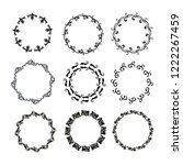 set of vector vintage frames on ... | Shutterstock .eps vector #1222267459