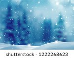 winter  background .merry... | Shutterstock . vector #1222268623