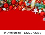 christmas background. happy new ... | Shutterstock . vector #1222272319