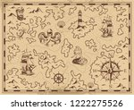 vintage monochrome pirate... | Shutterstock .eps vector #1222275526