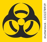 hazard chemical toxic sign for...   Shutterstock . vector #1222278919