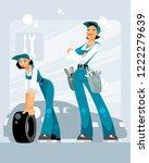 vector illustration of two... | Shutterstock .eps vector #1222279639
