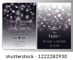 minimal wedding with decorative ... | Shutterstock .eps vector #1222282930