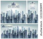 city skyline poster  city... | Shutterstock .eps vector #1222283899