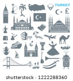 set of country turkey culture... | Shutterstock .eps vector #1222288360