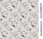 seamless watercolor pattern... | Shutterstock . vector #1222288879