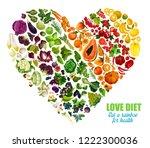 color detox diet of vegetables... | Shutterstock .eps vector #1222300036