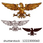 eagle victory and power... | Shutterstock .eps vector #1222300060