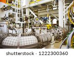 gauge on oil and gas process... | Shutterstock . vector #1222300360