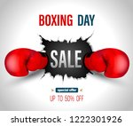 boxing day sale on crack wall... | Shutterstock .eps vector #1222301926