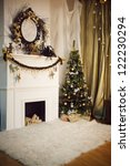merry christmas and happy new... | Shutterstock . vector #122230294
