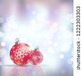 festive winter background with...   Shutterstock .eps vector #1222303303