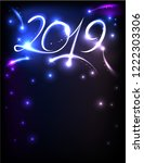 poster for new 2019 with...   Shutterstock .eps vector #1222303306