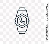 smartwatch vector outline icon... | Shutterstock .eps vector #1222303969