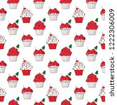 seamless pattern with merry... | Shutterstock .eps vector #1222306009
