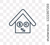 mortgage vector outline icon... | Shutterstock .eps vector #1222307203