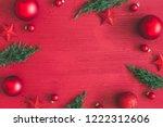 christmas composition.... | Shutterstock . vector #1222312606