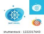 ship's wheel logo template...   Shutterstock .eps vector #1222317643