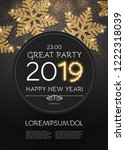 happy new 2019 year poster... | Shutterstock .eps vector #1222318039