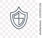 antivirus vector outline icon... | Shutterstock .eps vector #1222321126