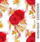 seamless pattern. decorative...   Shutterstock . vector #1222322620