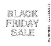 vector 3d black and white  bold ... | Shutterstock .eps vector #1222333876