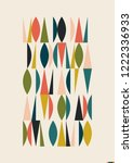 mid century modern pattern from ... | Shutterstock .eps vector #1222336933