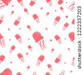seamless pattern with cute... | Shutterstock .eps vector #1222337203