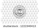 built in realistic grey emblem... | Shutterstock .eps vector #1222340413