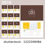 wall calendar planner template...   Shutterstock .eps vector #1222348486