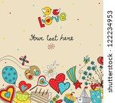 postcard about love.   Shutterstock .eps vector #122234953