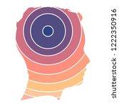 silhouette of a head. mental... | Shutterstock .eps vector #1222350916