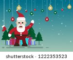 cartoon christmas and winter... | Shutterstock .eps vector #1222353523
