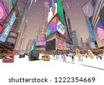trendy cover template. winter... | Shutterstock .eps vector #1222354669