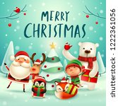 merry christmas  happy... | Shutterstock .eps vector #1222361056