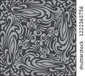 abstract pattern in oriental... | Shutterstock .eps vector #1222363756