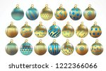 set of vector gold and blue... | Shutterstock .eps vector #1222366066