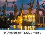industrial areas  shipyard and... | Shutterstock . vector #1222374859