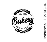 vector bakery pastry elements... | Shutterstock .eps vector #1222383046