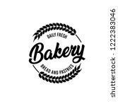 vector bakery pastry elements...   Shutterstock .eps vector #1222383046