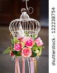 Wedding Flowers And Birdcage