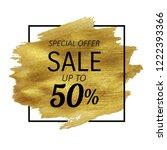 sale golden blot  vector... | Shutterstock .eps vector #1222393366