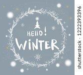 hello winter handlettering... | Shutterstock .eps vector #1222393396