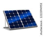 realistic detailed 3d solar... | Shutterstock .eps vector #1222394953