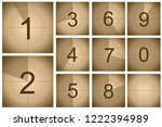 countdown frame movie concept... | Shutterstock .eps vector #1222394989