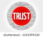 trust word cloud collage ...   Shutterstock . vector #1222395133