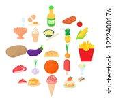 conserve icons set. cartoon set ... | Shutterstock .eps vector #1222400176