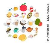 shipment icons set. isometric... | Shutterstock .eps vector #1222400326